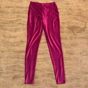 Forever 21 Ribbed velvet leggings -size Small NWOT